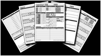 picture regarding 3.5e Character Sheet Printable titled Temperament Sheets via Angille
